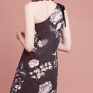 Anthropologie Maeve Ashbury One Shoulder Dress